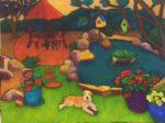 Cleos Backyard by Judy Feldman