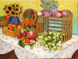 "Flagstaff Farmers' Market, 12"" x 16"" by Judy Feldman"