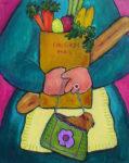 "Whimsy Whamsy 30"" x 24"" by Judy Feldman"