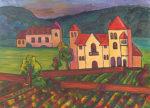Last Rays in Burgundy by Judy Feldman