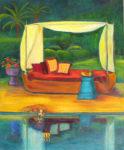 Cleo at the Pool by Judy Feldman