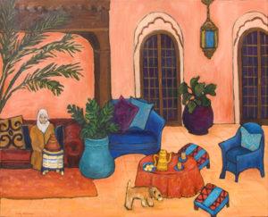 "Moroco Morning 24"" x 30"" by Judy Feldman"