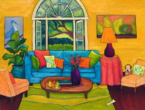 Cleo in the Garden Room by Judy Feldman