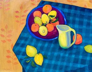 "Citrus Season, 24"" x 30"" by Judy Feldman"