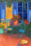 The Blue Shutters by Judy Feldman